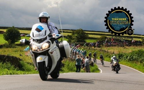 TdF 2014 yorkshire cycling ag2r motorcycle