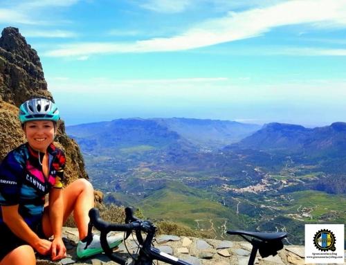 Gran Canaria Cycling climb view summit