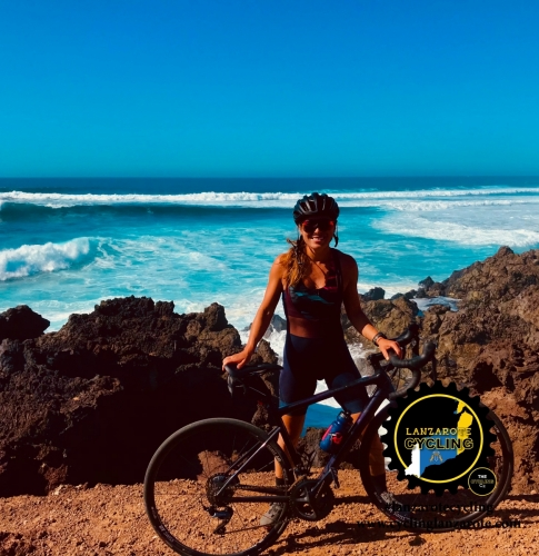 cycling lanzarote girl