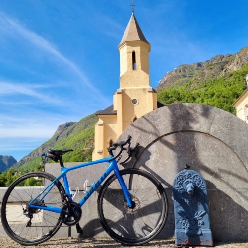 cycling france cycling pyrenees church tourmalet